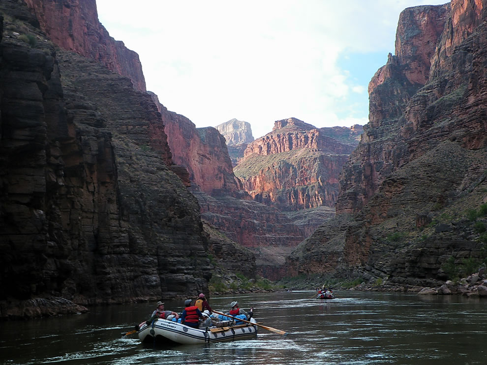 Beginning a new day rafting the Colorado River - Grand Canyon