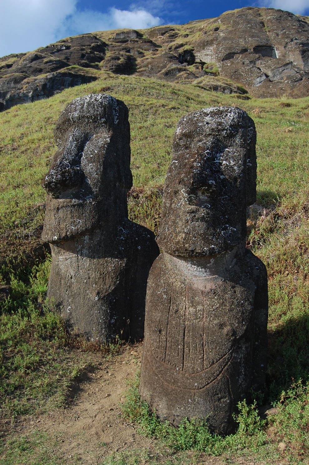 Best friends staying together forever on Easter Island
