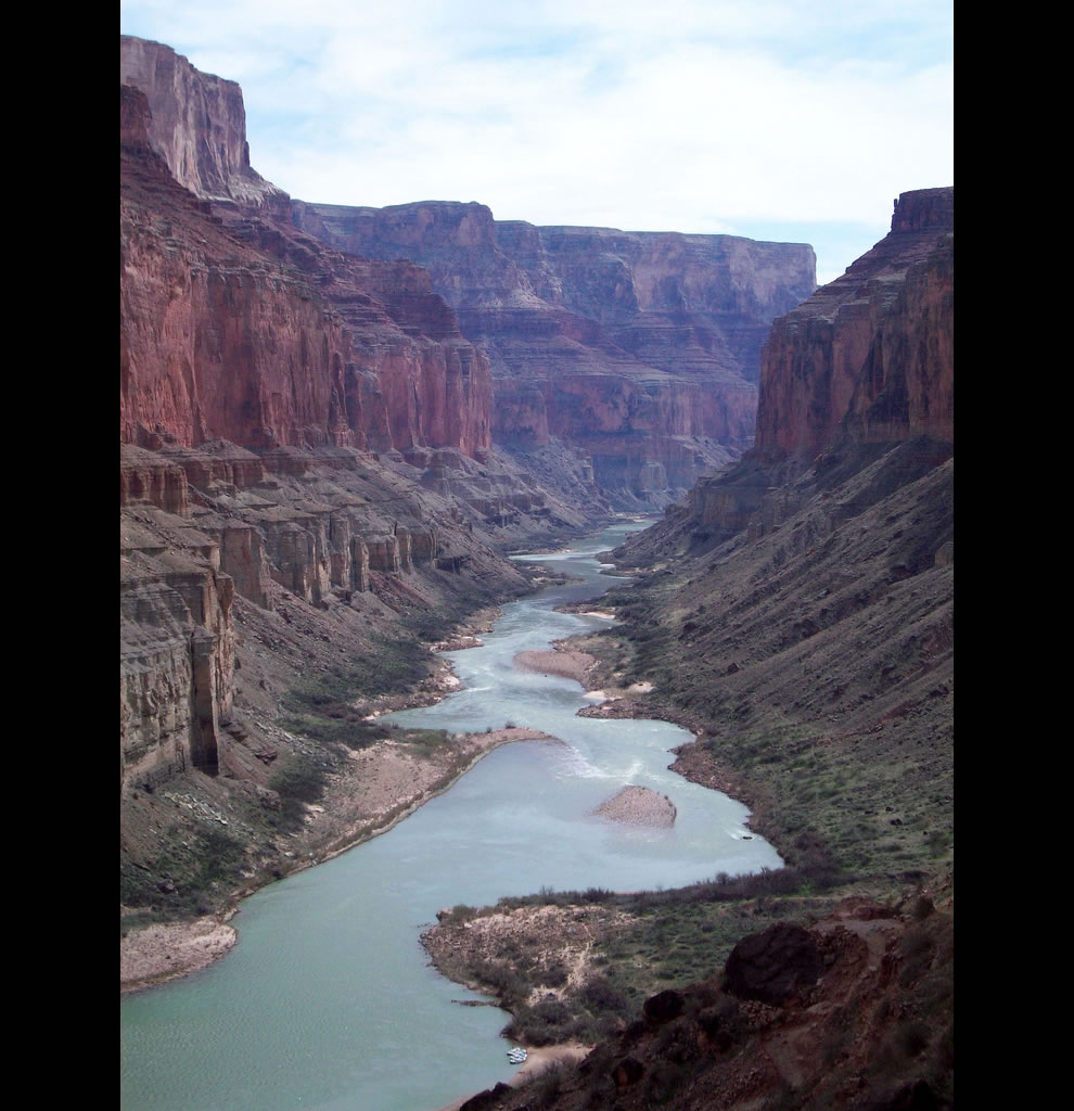 Colorado River, Marble Canyon marks the beginning of the Grand Canyon