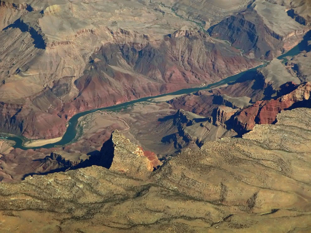 Comanche Point, on the South Rim of the Grand Canyon, above the Colorado River