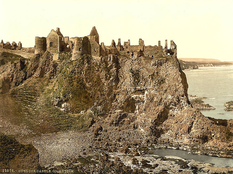 Dunluce Castle - County Antrim, Ireland Photochrom prints--Color--1890s - St Patricks Day