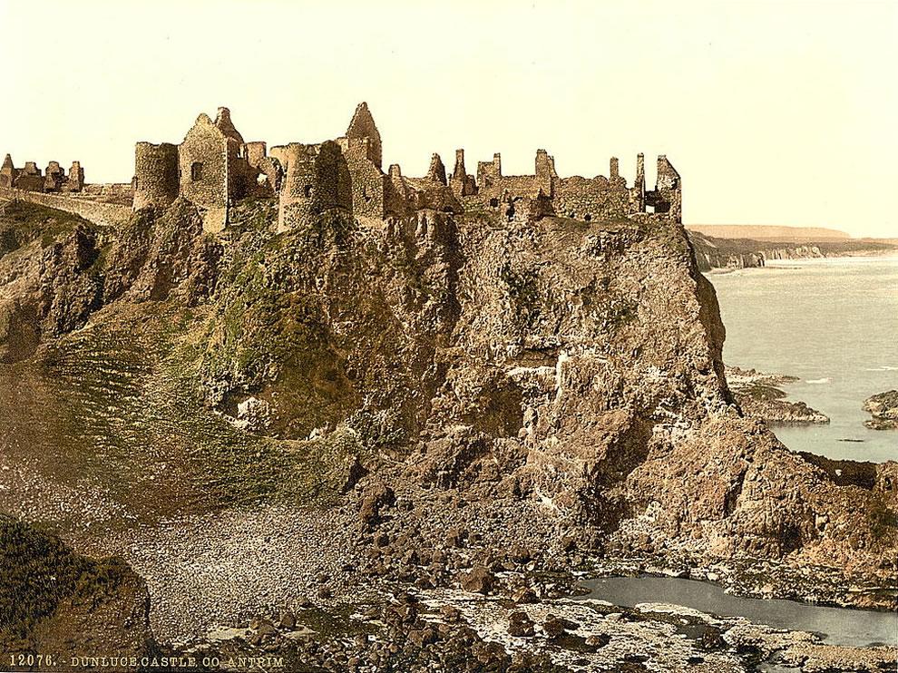 Dunluce Castle - County Antrim, Ireland Photochrom prints--Color--1890s - St Patricks Day