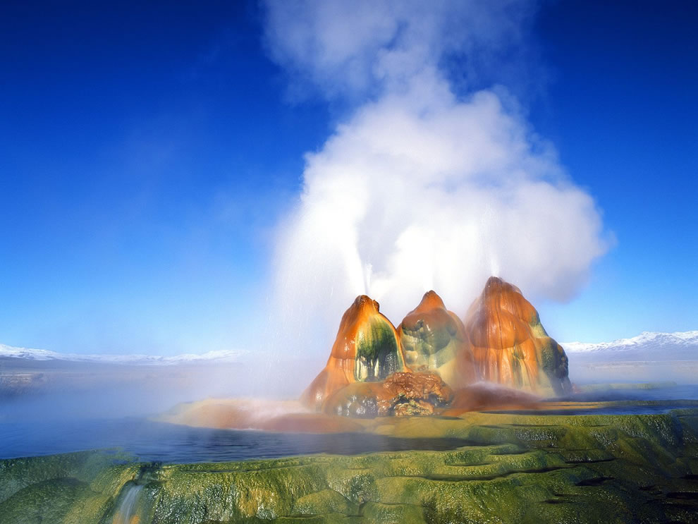 Fly Geyser Black Rock Desert Nevada