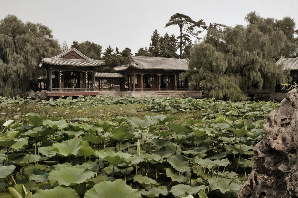Chinese Gardens - Garden at the Summer Palace in Beijing, China
