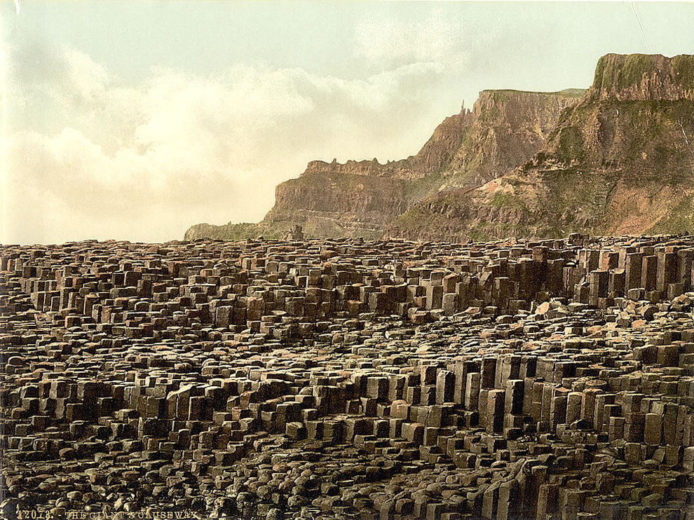 Giant's Causeway. County Antrim, Ireland Photochrom prints--Color--1890s
