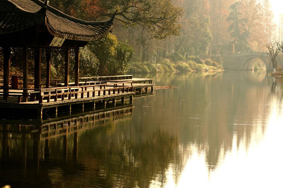 Hangzhou pagoda bridge in China