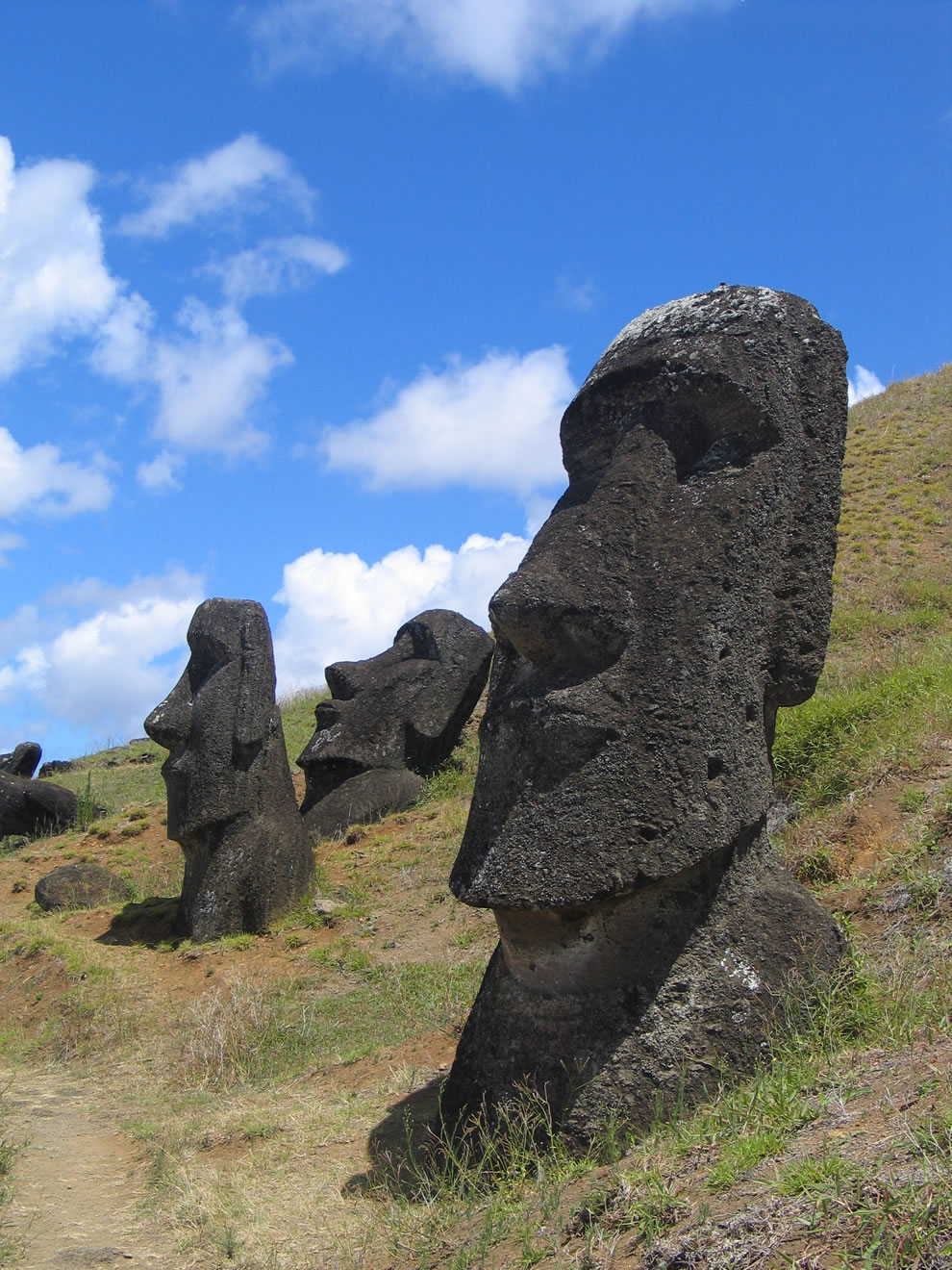 Moai at Rano Raraku - Easter Island