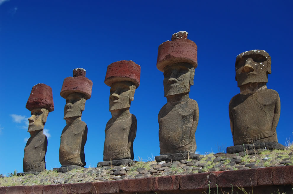 Chile, Easter Island Moai