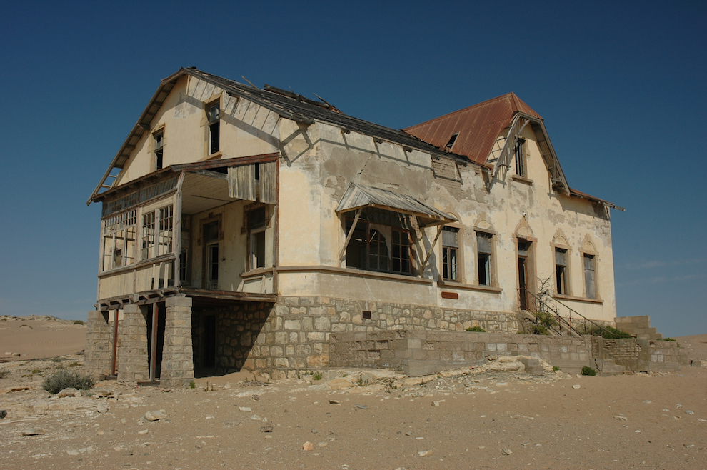 abandoned Namibie Kolmanskop ghost town