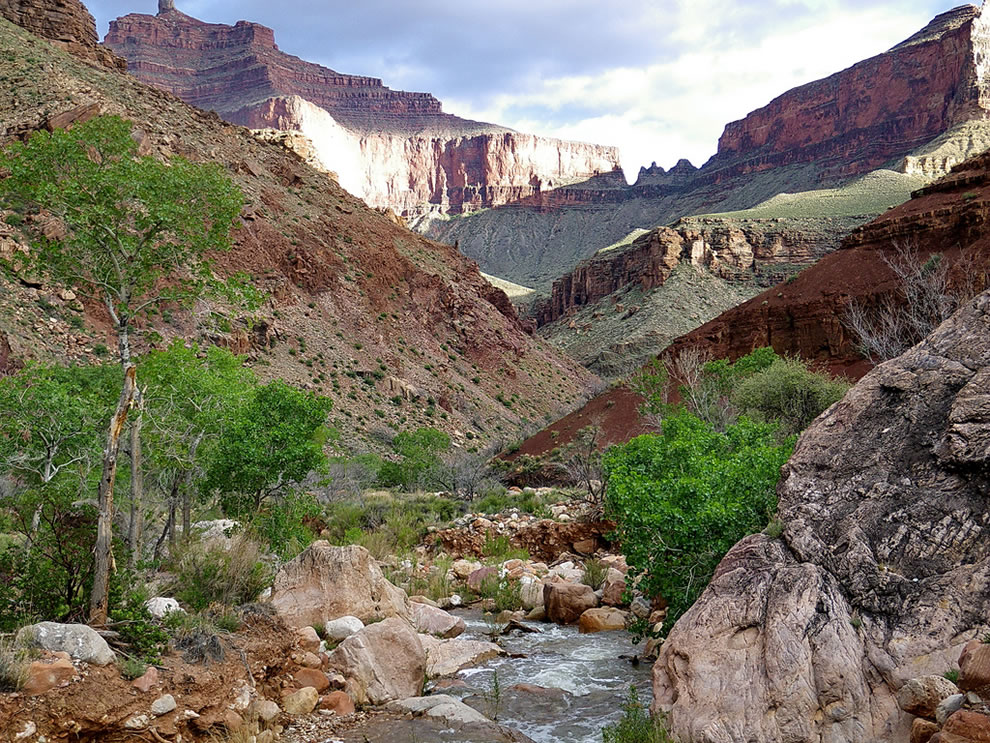 View to southeast from Clear Creek Camp - Grand Canyon