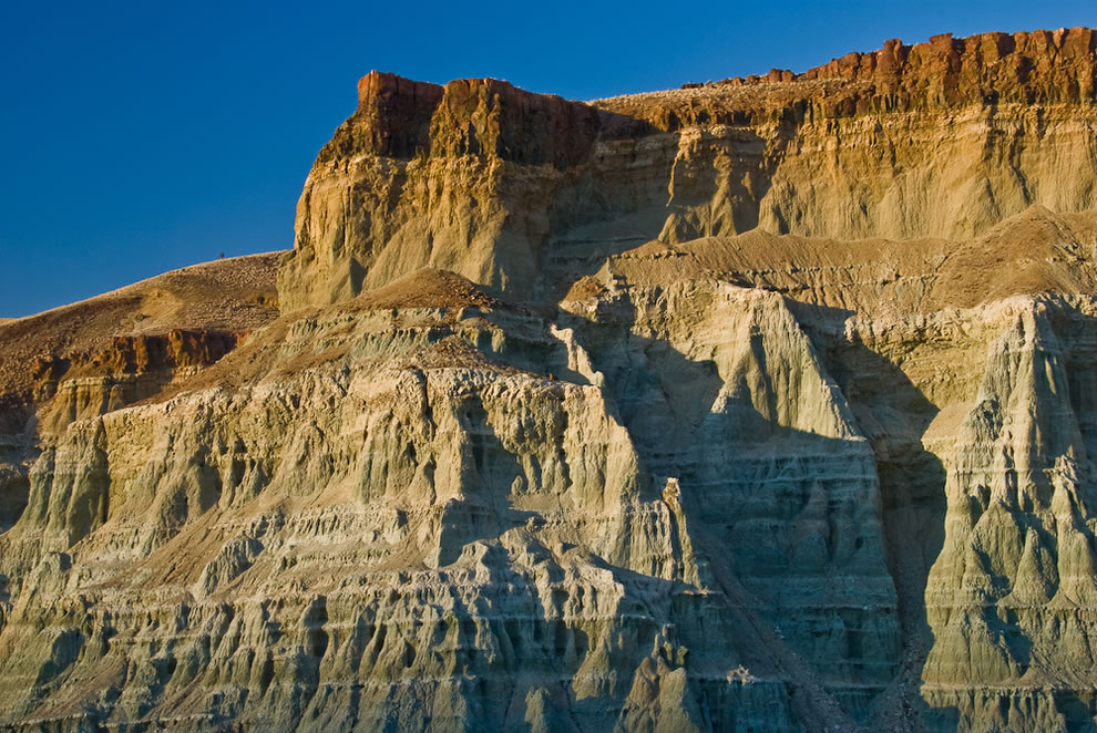 Basalt Cliffs at Sunset