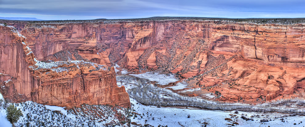 Canyon de Chelly is unique among National Park service units, as it consists entirely of Navajo Tribal Trust Land that remains home to the canyon community