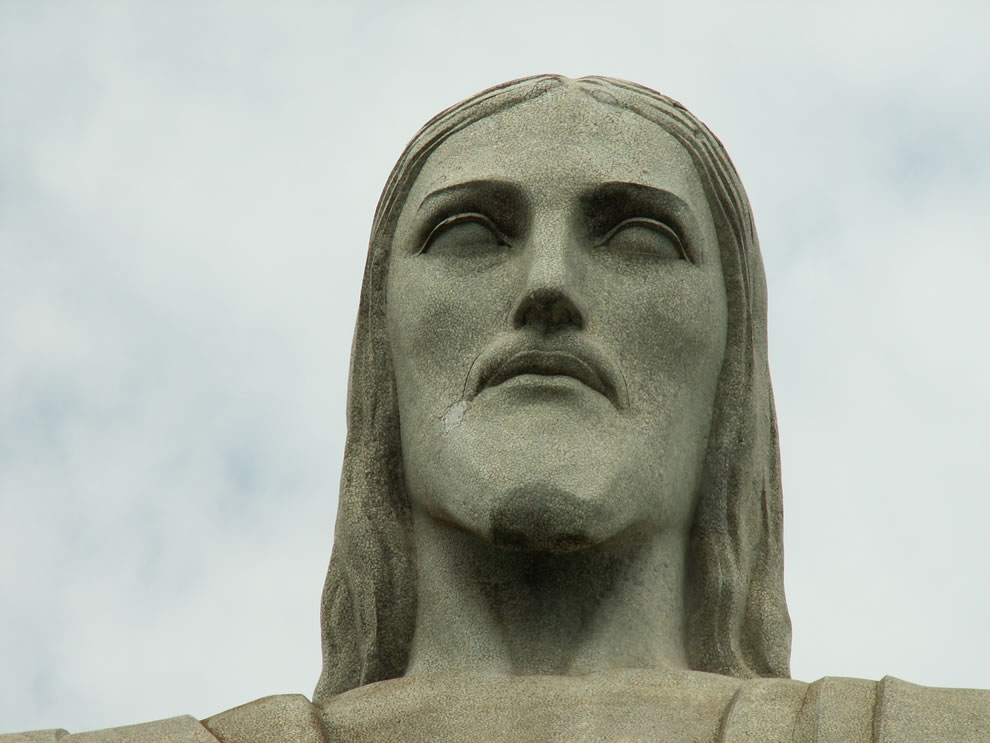 Face of Cristo Redentor statue