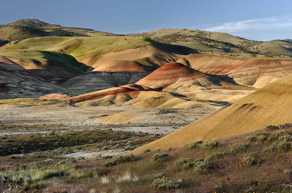 Sunrise over Painted Hills at John Day Fossil Beds National Monument