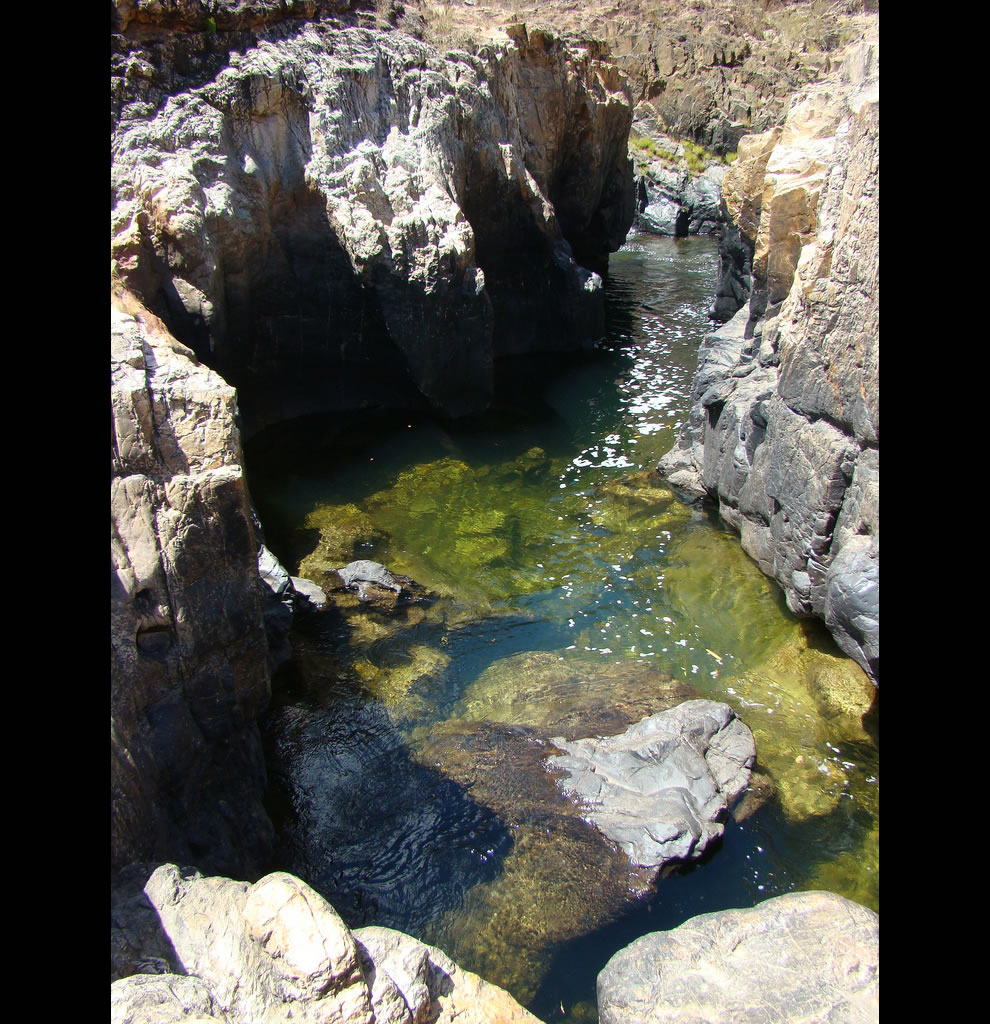 cool water after hiking Chapada dos Veadeiros
