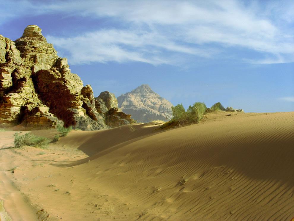rippled sand at Wadi Rum