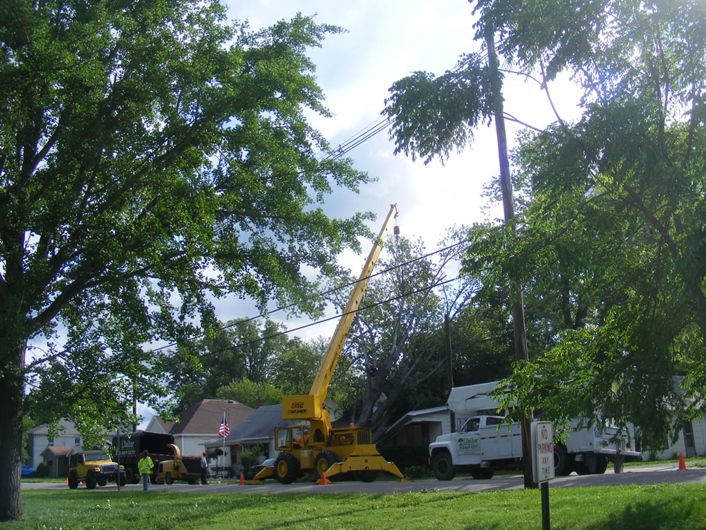Boonville Indiana across from Boonville high school - storm and wind damage after storm ripped through at night