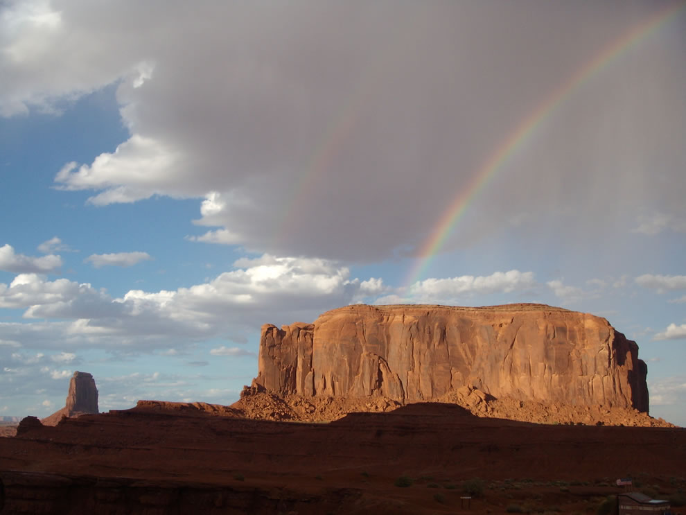 Double Rainbow over Monument Valley