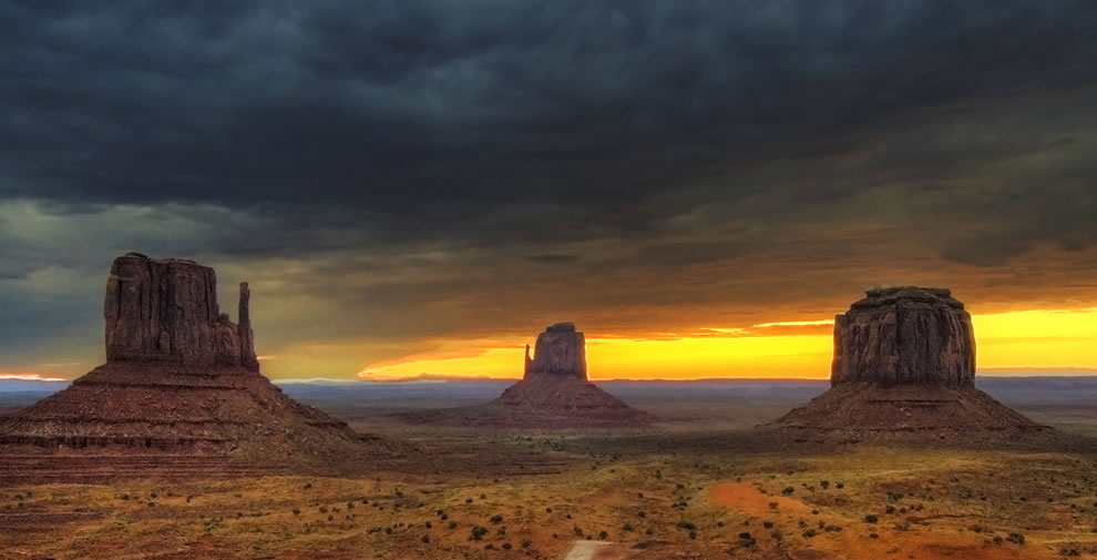 Monument Valley, early in the morning