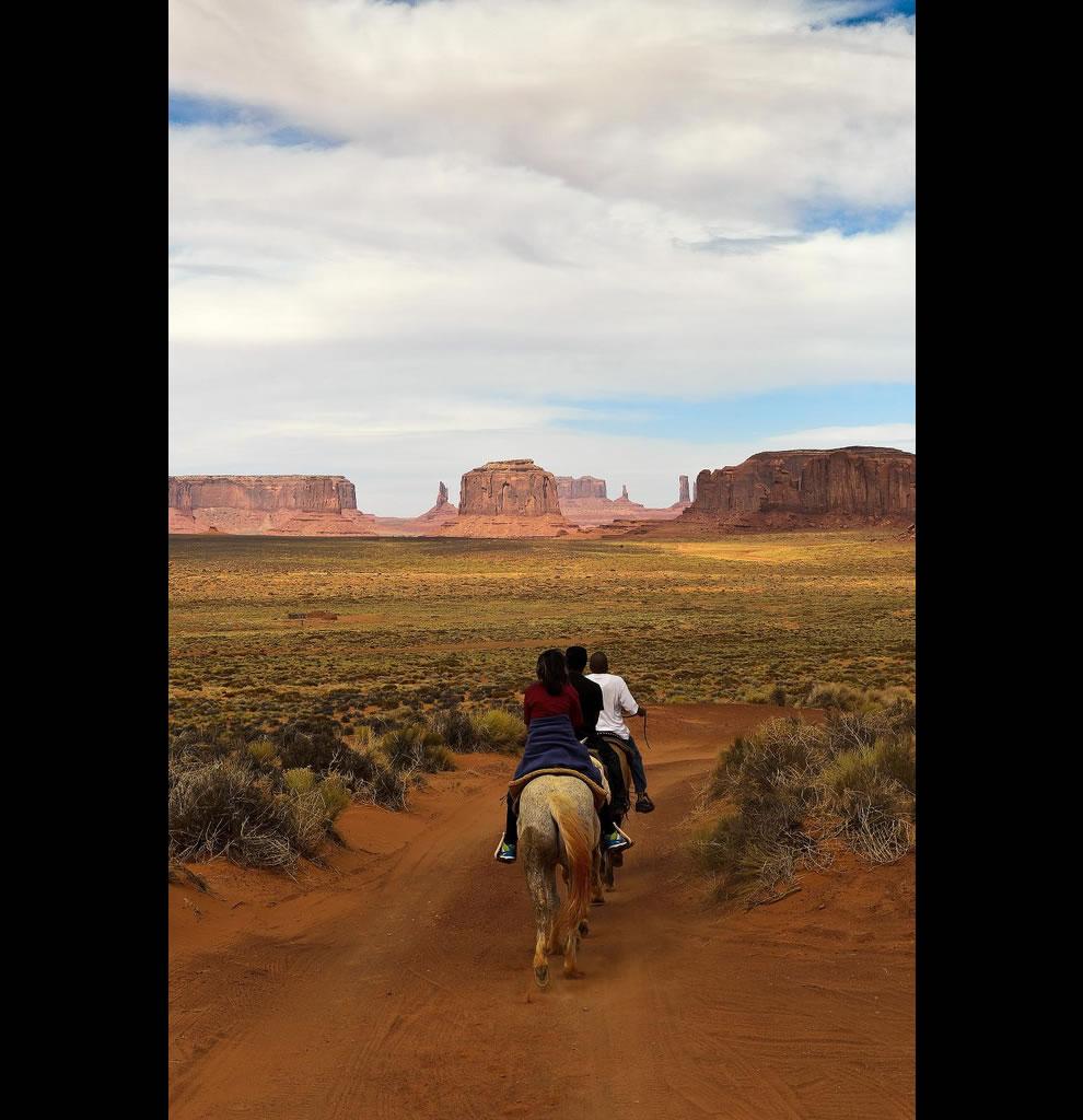 Riding at Monument Valley - Navajo