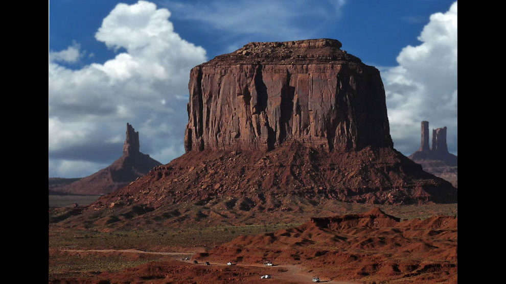 Traffic Jam in Monument Valley