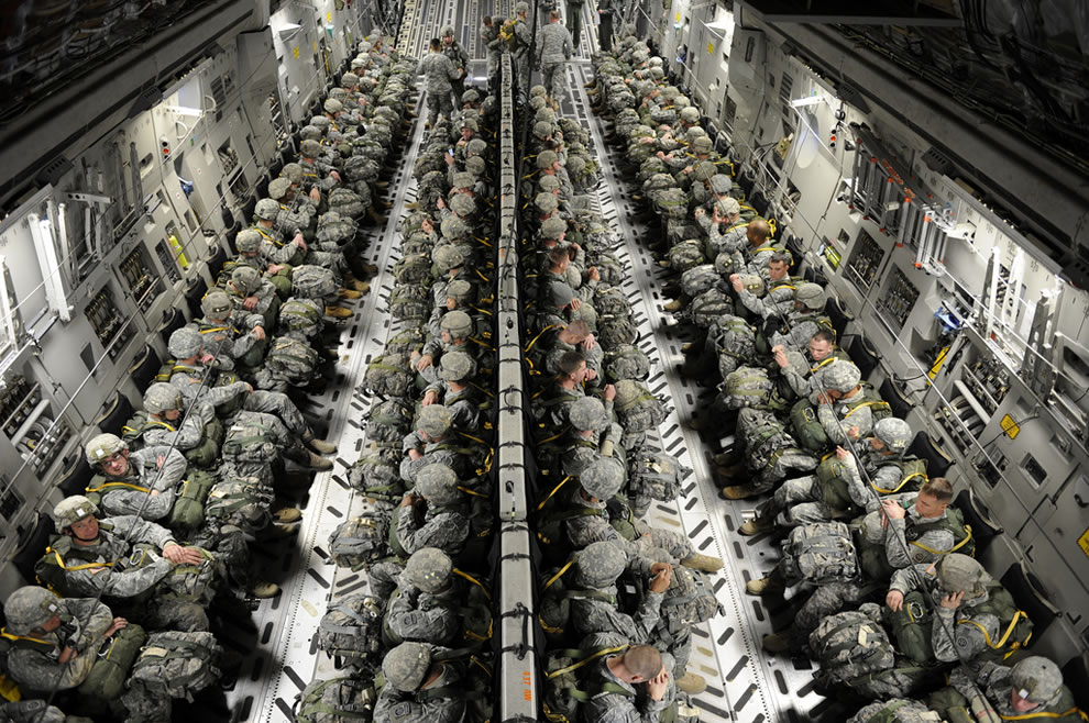 U.S. Army paratroopers with the 82nd Airborne Division