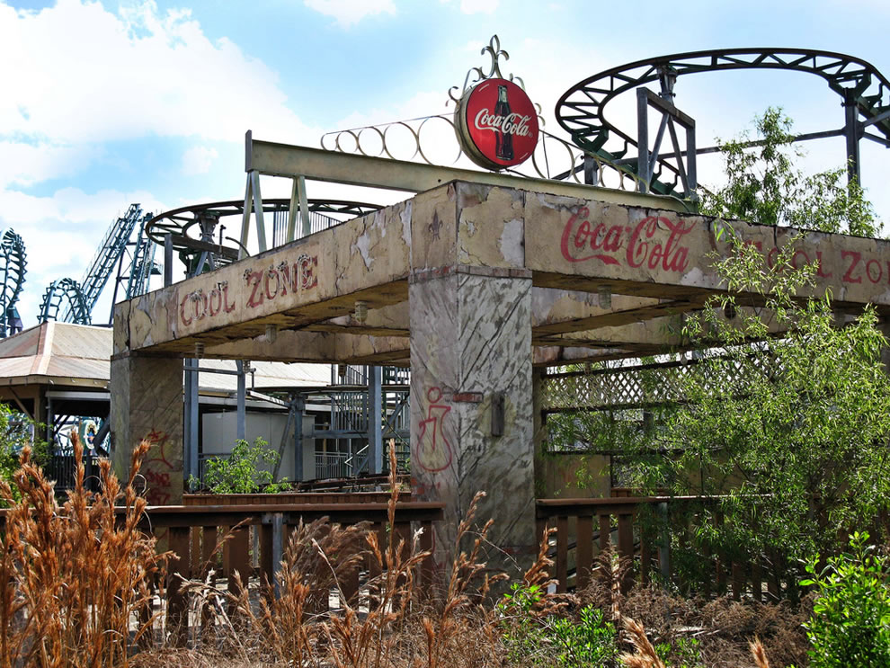Zone of Cool no more at abandoned six flags New Orleans