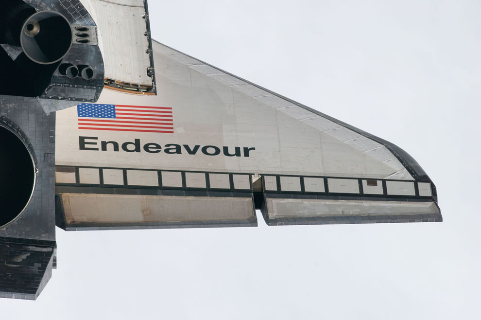 last time Endeavor's wing will be seen in space