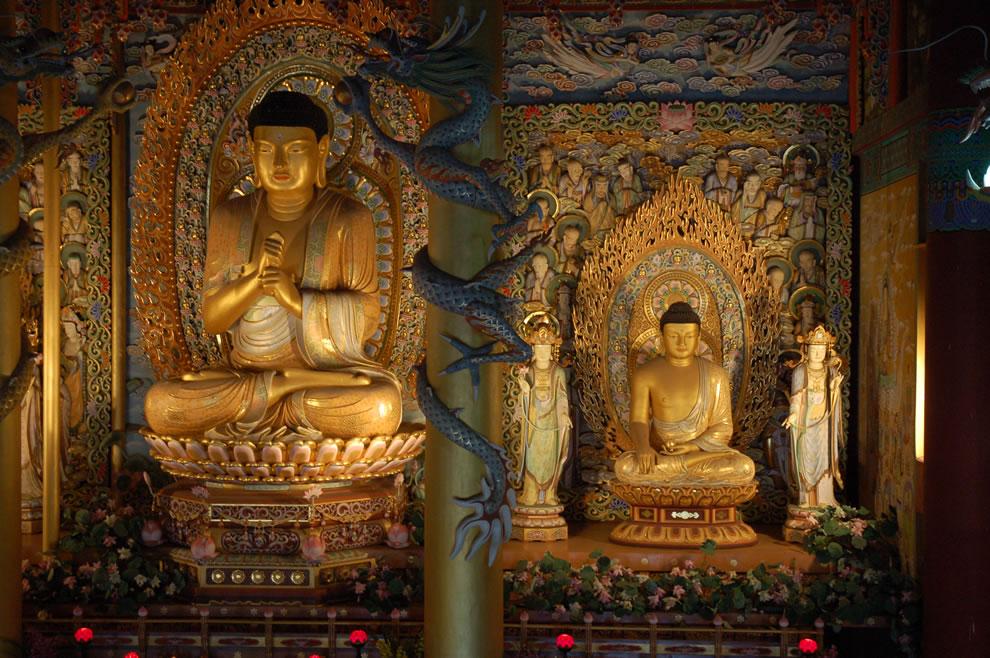 Buddhist altar Jeju Korea