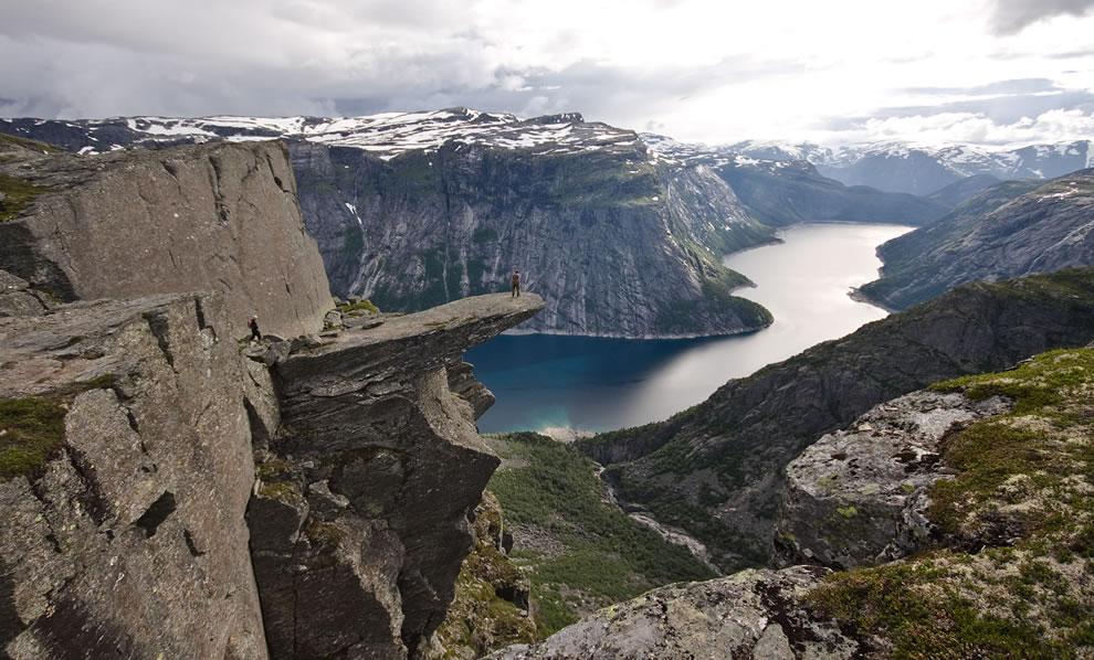 Crazy cliff - view of Trolltunga in Odda Norway
