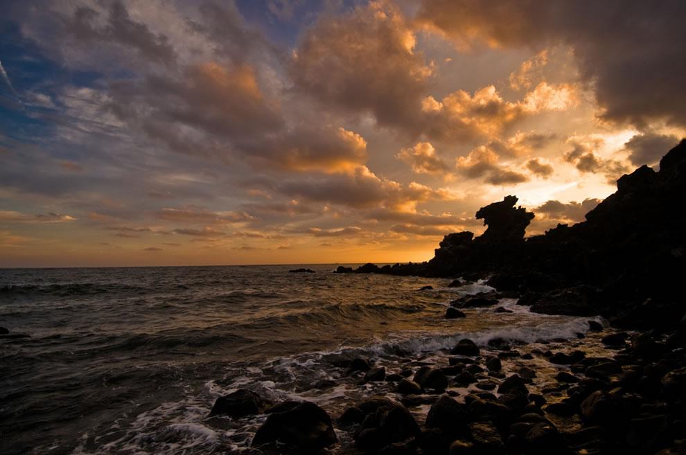 Dragon Head Rock. Jeju, S. Korea - Yongduam at Sunset