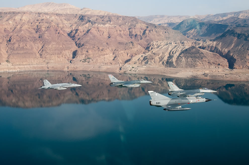 Flying over the Dead Sea