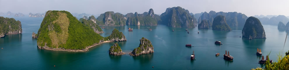 Halong Bay, A World Wonder - panorama