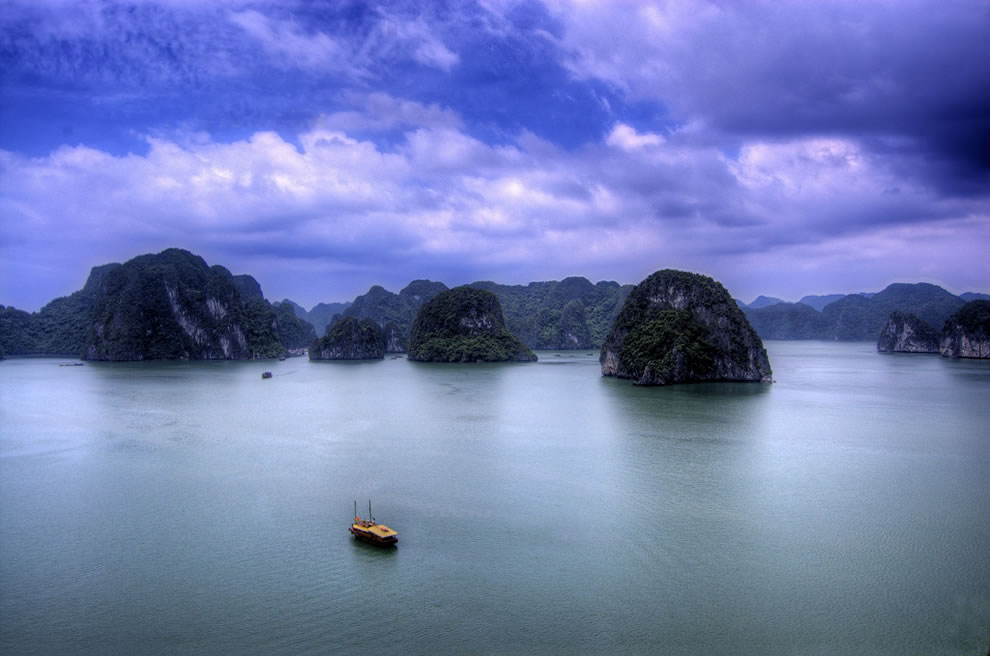 Halong Bay is breathtaking
