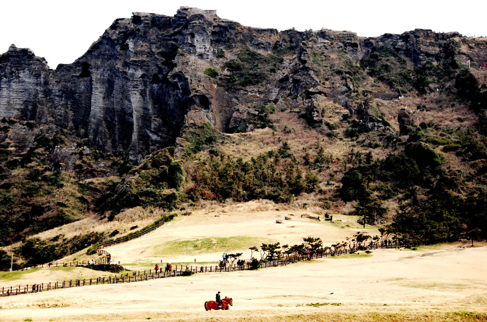 Korea Jejudo Cliff