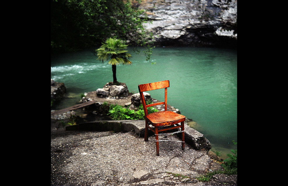 Mysterious chair at Gagra