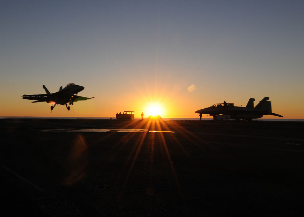 Navy Super Hornet aircraft assigned to Strike Fighter Squadron