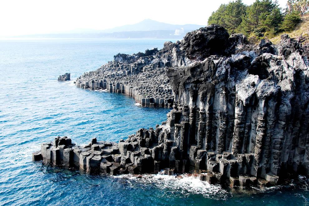 Part of the Jusangjeolli Cliff, Jungmun, Seogwipo-si