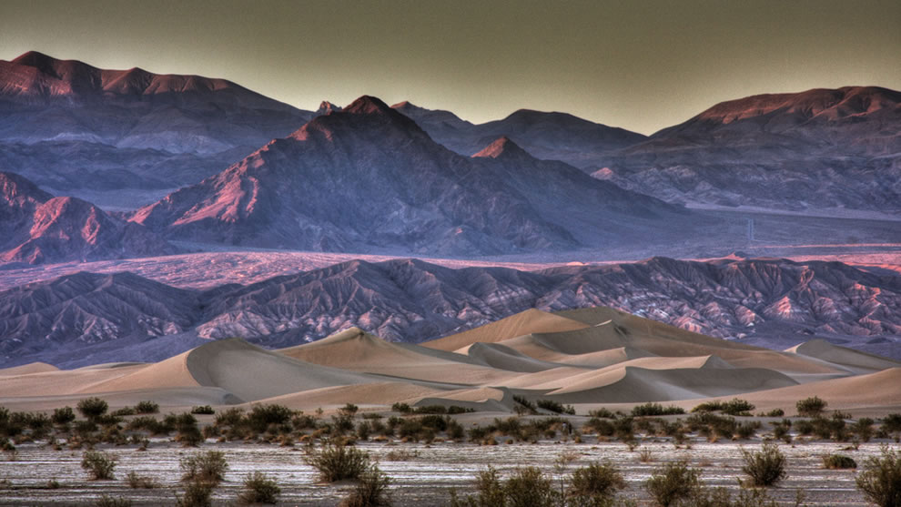The Dunes at Sunset (HDR Version) - Death Valley, Ca