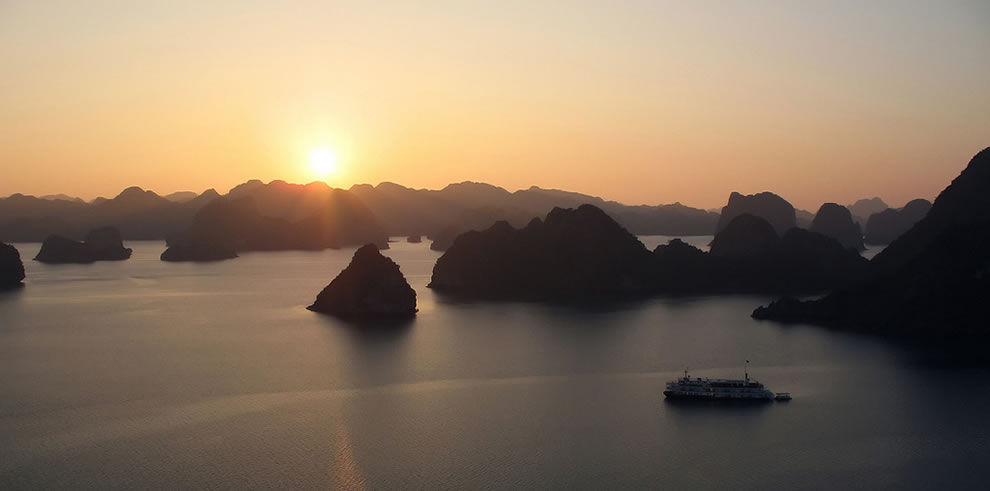 another gorgeous sunset at Halong Bay