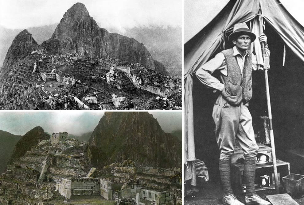 Bingham at Machu Picchu