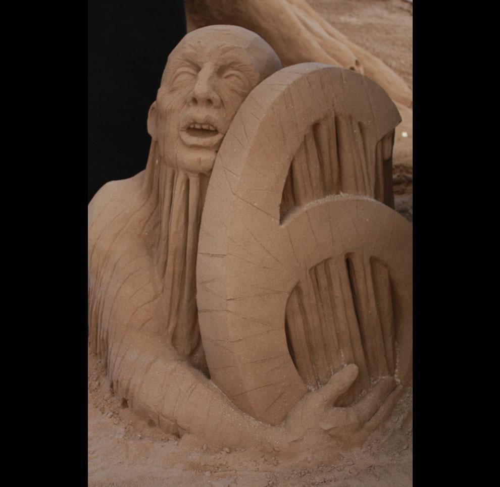 Dante's Hell Circle 6 sand sculpture