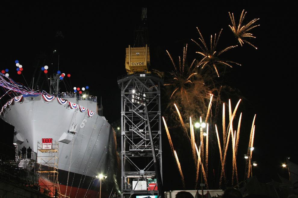 detonate as the Military Sealift Command dry cargo-ammunition ship USNS Amelia Earhart