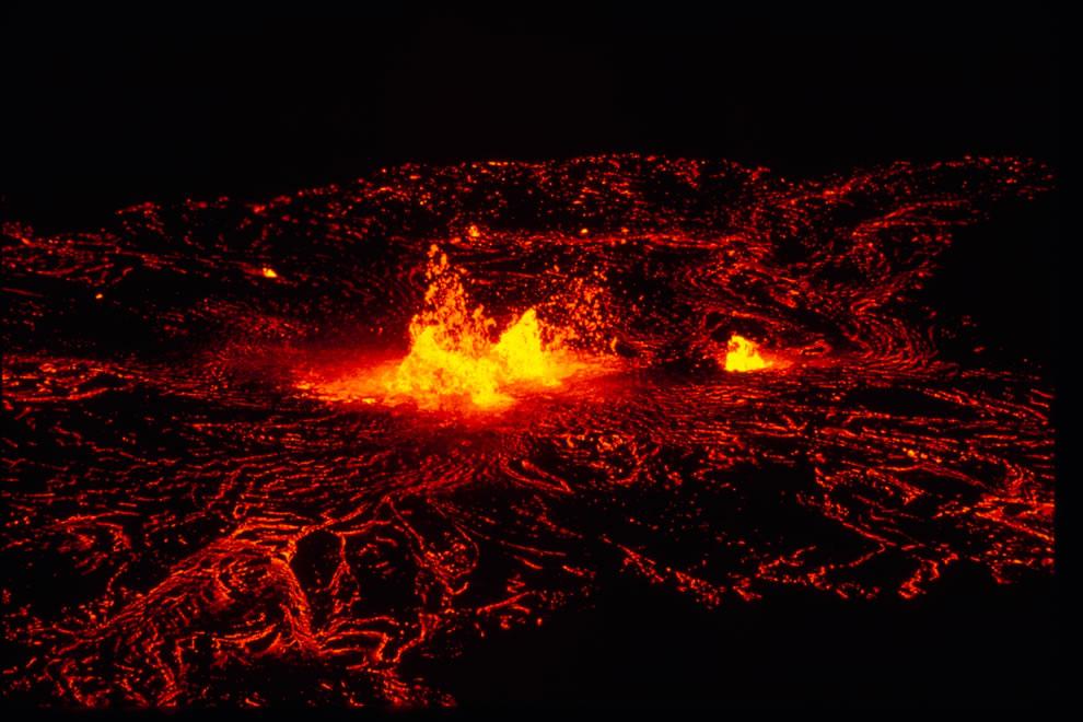 Lava NPS Hawaii Volcanoes National Park