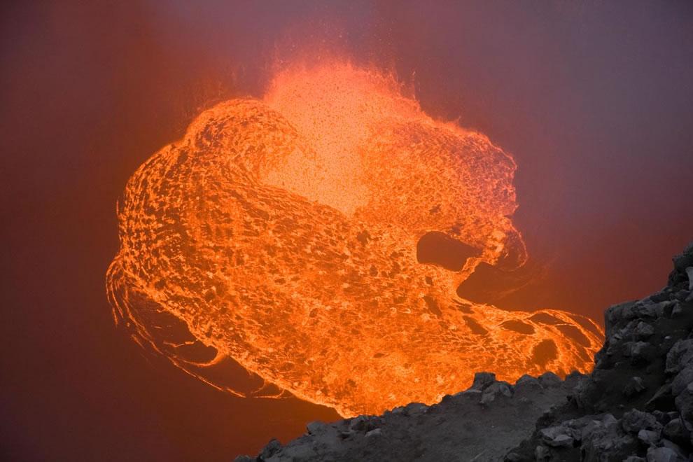 Lava burst - Hawaii Volcanoes National Park