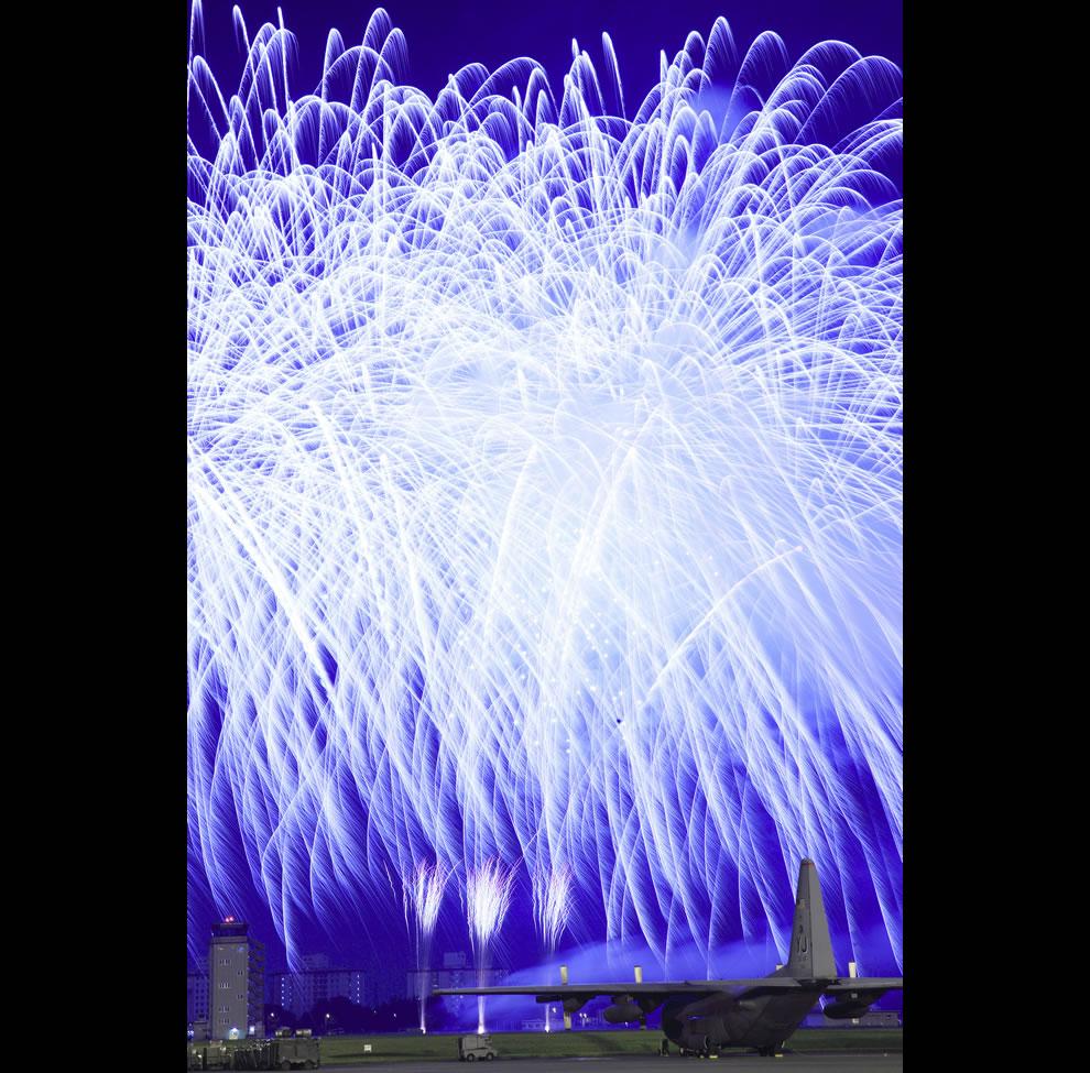 USAF Blaze of friendship - fireworks display
