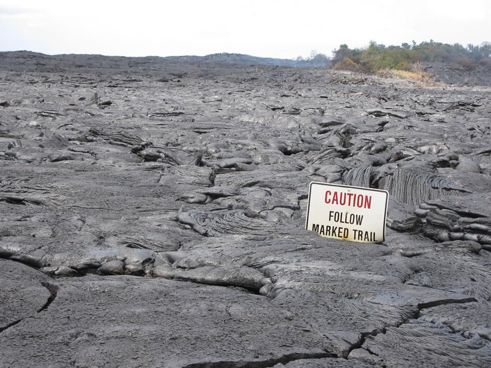 caution at Hawaii Volcanoes National Park
