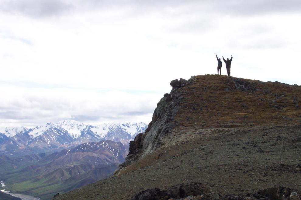 Backcountry climbers at Denali National Park