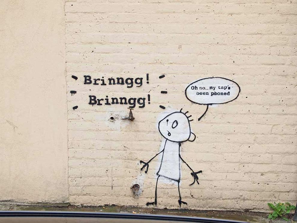 Banksy Banksy tapped phone