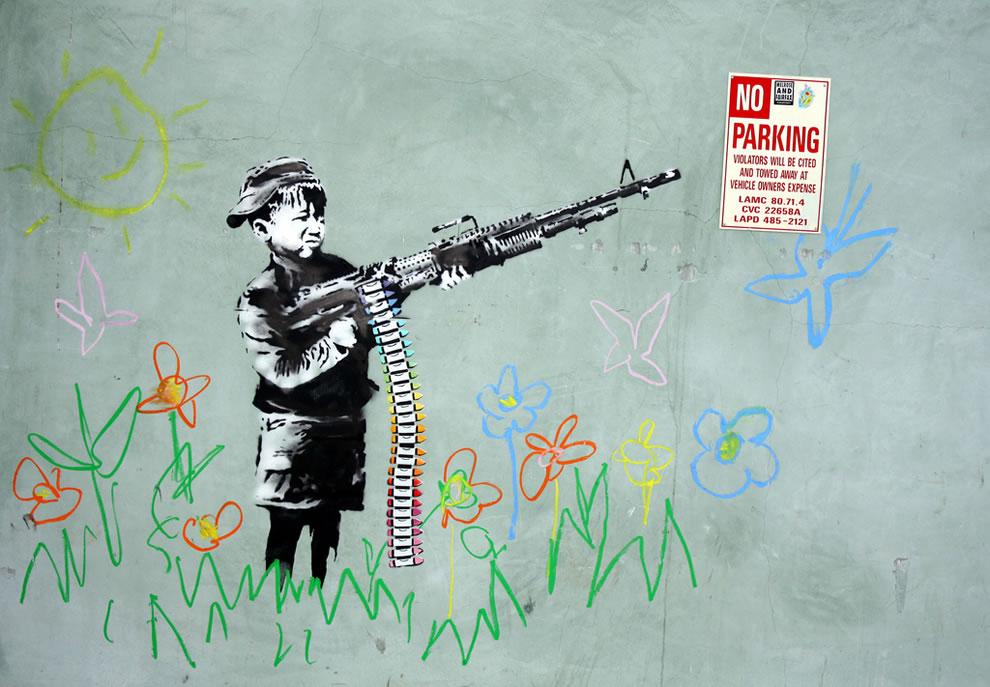 Banksy killer crayons